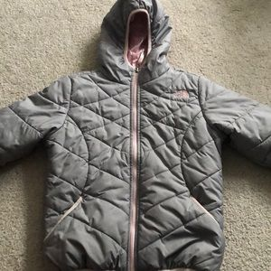 Girls authentic The North Face reversible coat